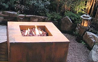 Propane powered firepit.