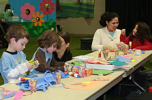 Children participate in many hands on activities.