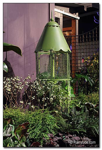 Bird Cage in the  Garden