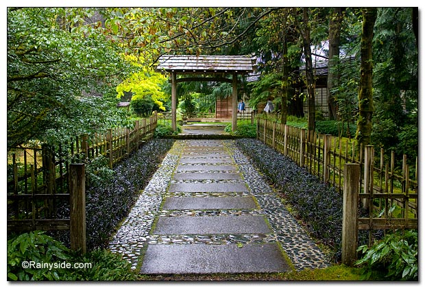 Entrance to Japanese garden