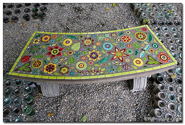 Mosaic Stone Cement : Come sit awhile part