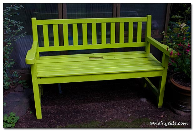Chartreuse Bench