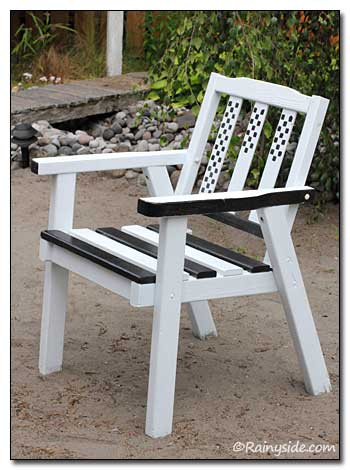 Black and White Painted Chair