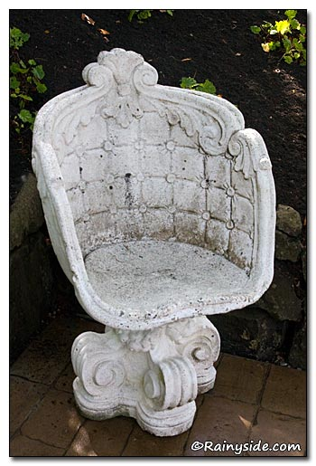 White Stone Chair