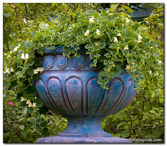 Painted Concrete Urn