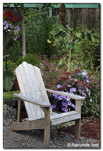Container Garden and chair