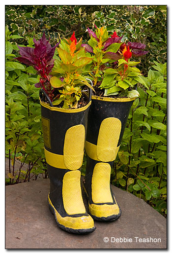 These boots are made for planting.