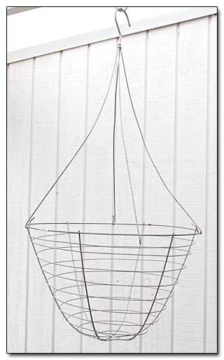 wire basket and hanger